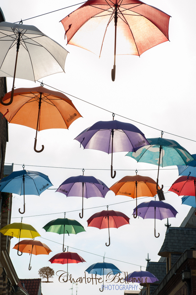 Deventer Umbrella Street Copyright Charlotte Bellamy Photography