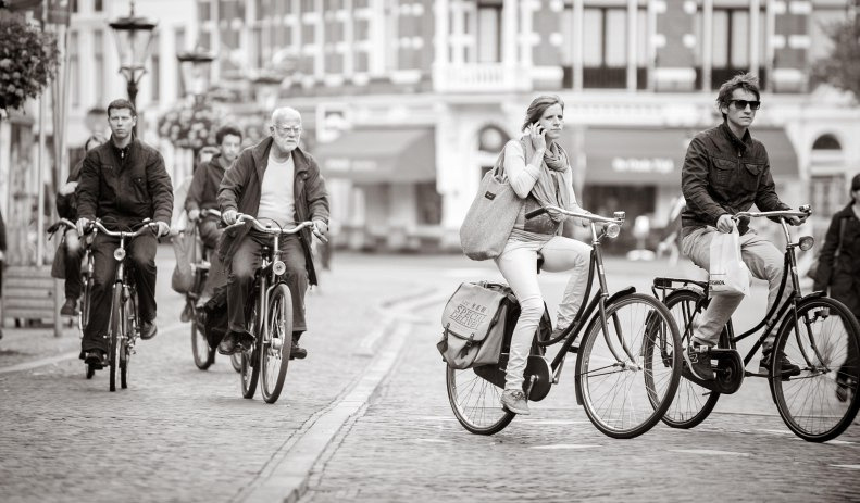 Dutch bikes - copyright Charlotte Bellamy